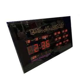 Jam Adzan Digital Sholat Otomatis 6 Waktu Azan Dinding Besar ID74