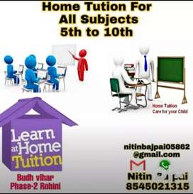 I am a tutor.Home tution for all subjects 5th to 10th.