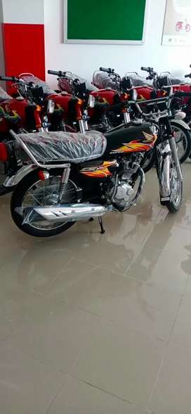 New CG125 2021 BLACK & RED COLOR (ONLY FOR SUKKUR)