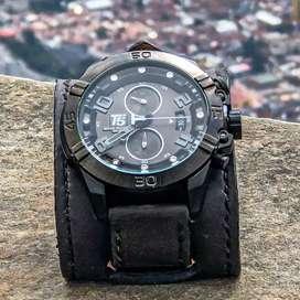 Jam tangan pria T5 chronos black original