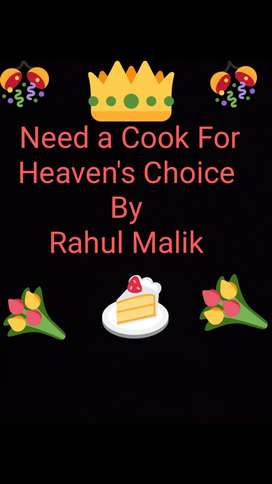 Need Fast food , chinese cook of any age , with 2yrs of exp. Atleast.