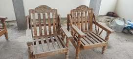 రెండు కుర్చీలు సోఫ అమ్మబడును  TeakWood Chairs  And Sofa FOR SALE