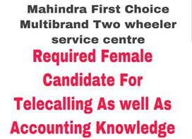I Need A Female Accountant With GST Tally Knowledge With GST Filing