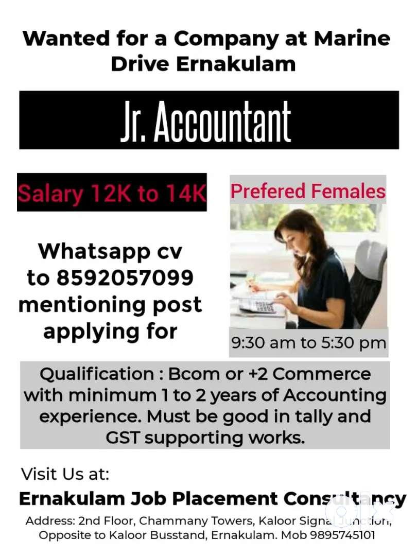 Accountant (Female) at Marine Drive, Ernakulam