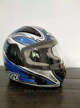 Helm AGV GP1 Biru, Kondisi 95% Mulus