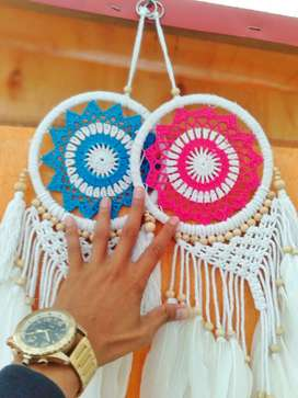 souvenir dream catcher bahan rajut