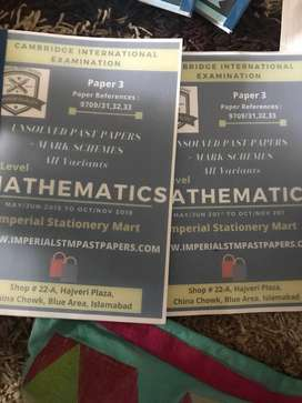 Alevel maths pastpapers (rs900)