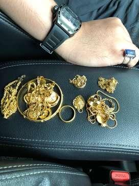 Terima perhiasan emas dan berlian tanpa surat