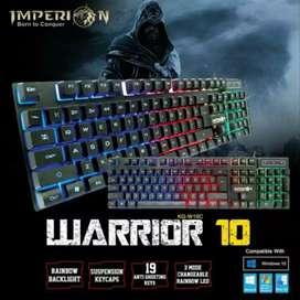 Keyboard Gaming RGB imperion warrior kg -w10c