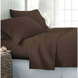 WINTER KING SIZE COTTON SATIN BED SHEETS