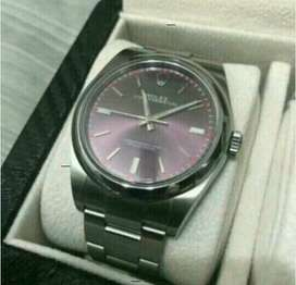 Brand New Rolex Oyster Perpetual 114300 Red Grape Dial