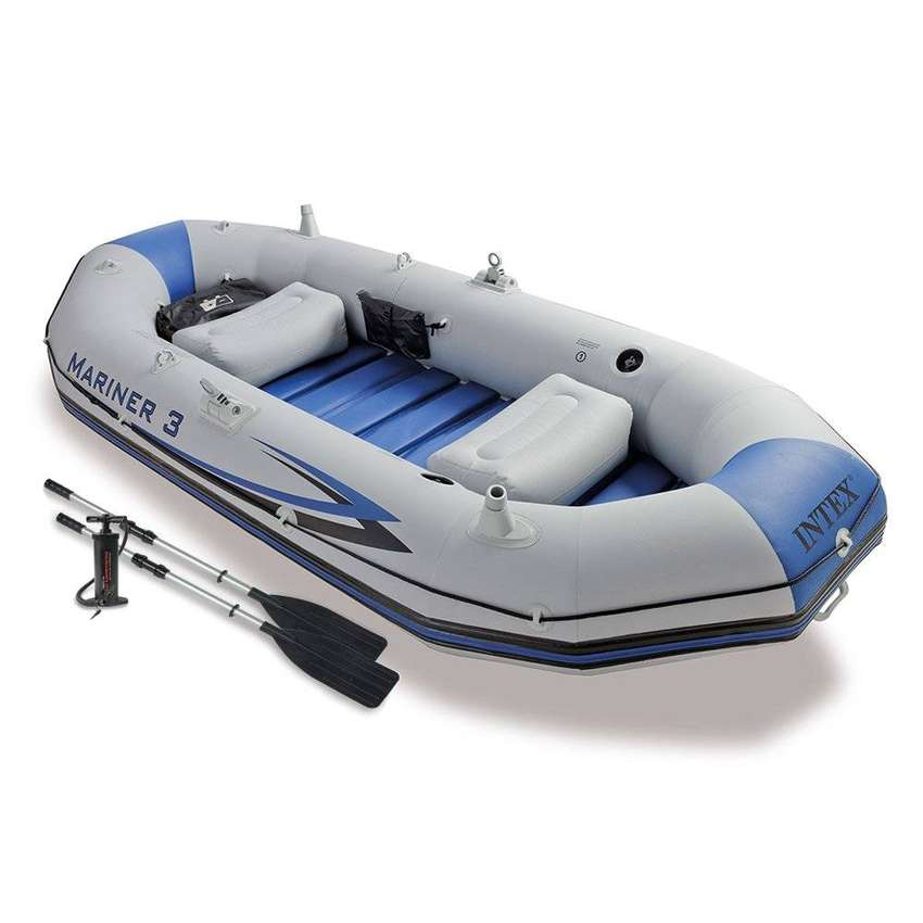 oldzon Mariner 3-Person Inflatable River/Lake Dinghy Boat 0