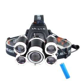 Headlamp Light Cree XM-L T6 + 4 XPE 40000 Lumens with 1x18650+Charger