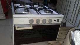4 burner gas cooktop with oven
