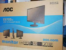 "AOC LED 19""  E970SWN New BOX W/AOC Warranty Card."