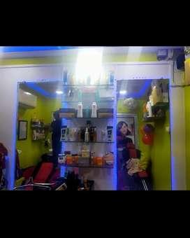I sale my small ladies Beauty parlour Guwhati Cristain Basti