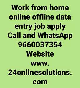 Data entry work from home apply