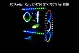 PC Rakitan Core i7 4790 GTX 750Ti Full RGB
