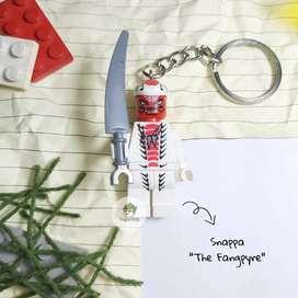 Gantungan Kunci Lego Ninjago Minifigure Snappa The Fangpyre