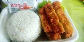 Nasi ayam katsu  sambal geprek