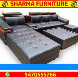 Newly made luxury Full leather Sofa set in wholesale price@
