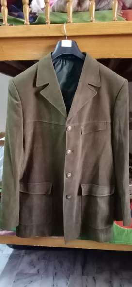 Coat large size green color