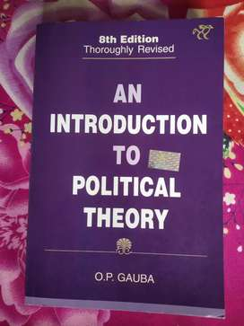 Political science Hons book ( OP Gauba) History general books