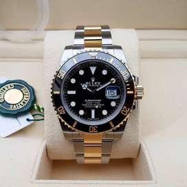 Rolex Submariner Swiss Otomatis Black Gold Include box fullset