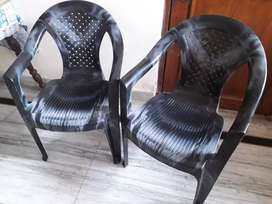 Two branded plastic chair