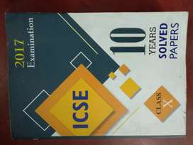 10 years solved papers ICSE Class 10