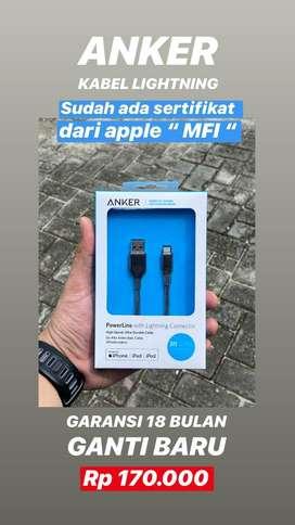ANKER ORIGINAL Resmi 18 Bulan Garansi - Kabel Charger USB Berkualitas