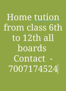 Home tution class 1st to 10th