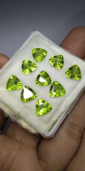 Natural green peridot birma natural peridot 9 pcs