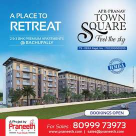 3 BHK Luxury Apartment for Sale at Bachupally for 75.67 Lakhs