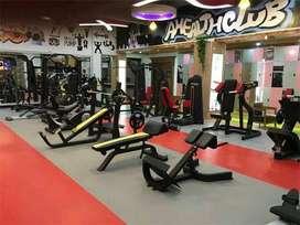 gym setup all machine with