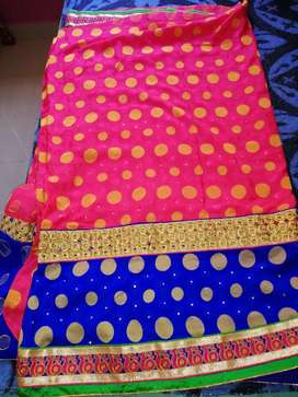 2 sarees, 1 is with blouse