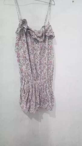 Jamsuit pendek motif bunga bunga