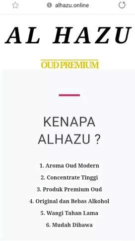 Parfum premium dari oud modern