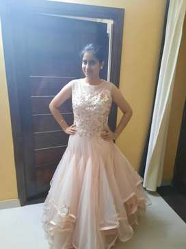 Baby pink english gown. Please contact serious buyers only