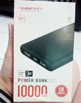 Powerbank MOFIT M11 10.000mAh + Fast Charge 2.4A Real Capacity Garansi