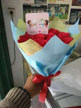 Hand buket bunga untuk wisuda gift pre wedd