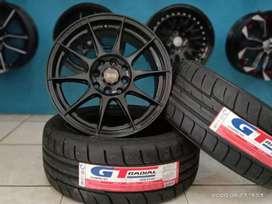 paketan velg oz racing dan ban SX2 R15 uk 195/50-15.
