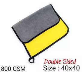 Double sided Microfiber Cloth For Car Cleaning And Mobiles