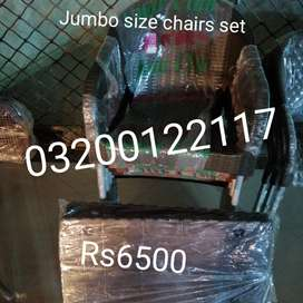 Plastic chairs jumbo size set 4 chairs 1 table