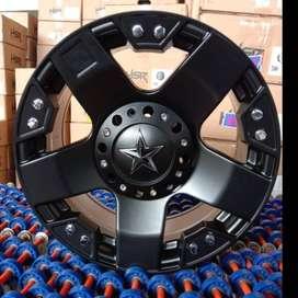 Pelek Mobil Fortuner HSR RASTA JT5187 R17 Lebar 9 pulll black