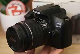 Canon 1300D kit fullset box like new murah