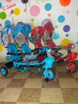 Sepeda roda tiga exotic dobel