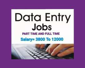 Urgent requirement for home best data entry job male and female