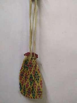 Colourful water bag purse