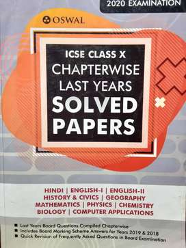 Icse Class 10 Osswal Chapterwise Solved Paer Of Last 10 years